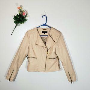 Steve Madden Vegan Leather Asymmetrical Jacket